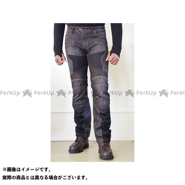 コミネ WJ-741S スーパーフィットプロテクトレザーメッシュジーンズ(ブラック) サイズ:3XL/38 メーカー在庫あり KOMINE