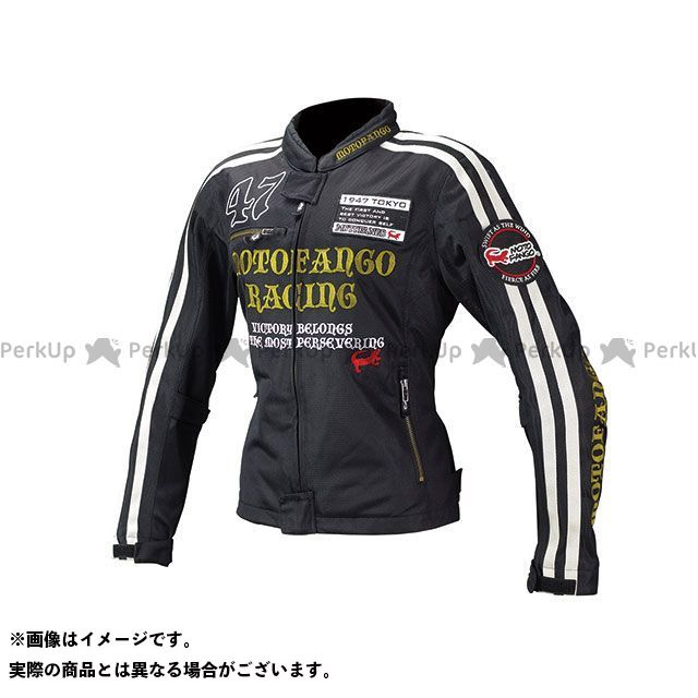 【無料雑誌付き】モトファンゴ MJ-003 ダブルラインメッシュジャケット(ブラック/ゴールド) サイズ:WL MOTOFANGO