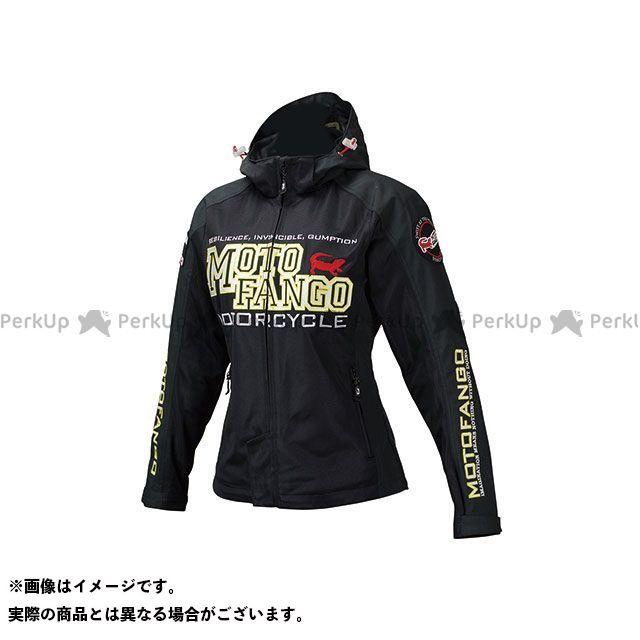 モトファンゴ MJ-004 ハーフメッシュパーカ(ブラック/イエロー) サイズ:WL メーカー在庫あり MOTOFANGO