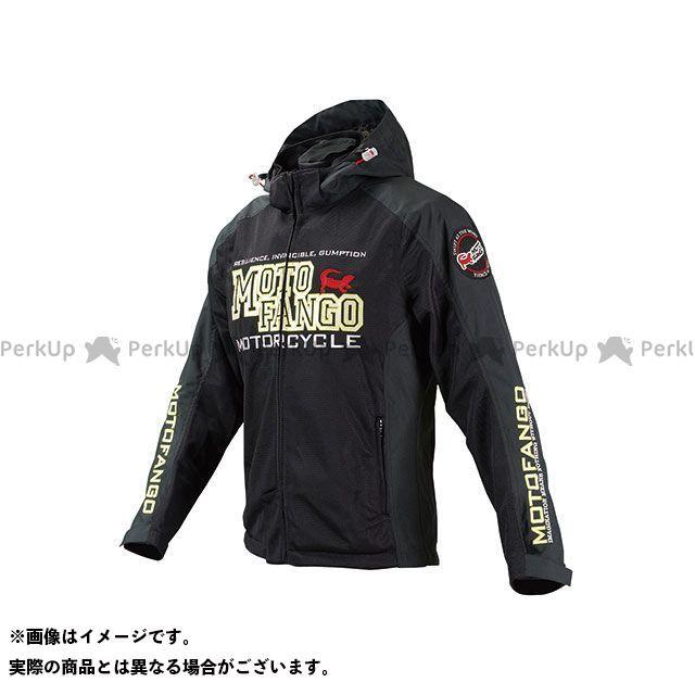 モトファンゴ MJ-004 ハーフメッシュパーカ(ブラック/イエロー) サイズ:2XL メーカー在庫あり MOTOFANGO