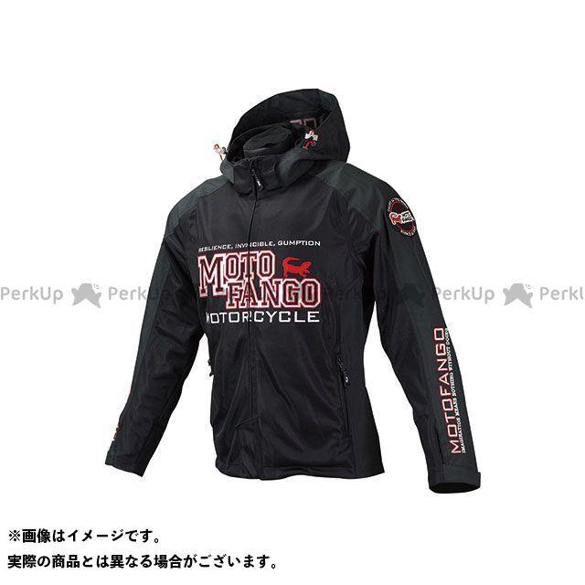 モトファンゴ MJ-004 ハーフメッシュパーカ(ブラック/レッド) サイズ:WM メーカー在庫あり MOTOFANGO