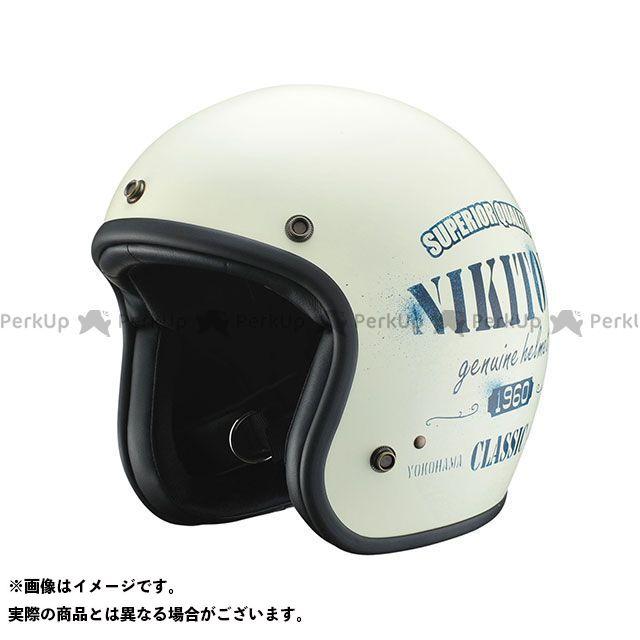 送料無料 NIKITOR ニキトー ジェットヘルメット HELMET(ステンシル アイボリー/ネイビー)