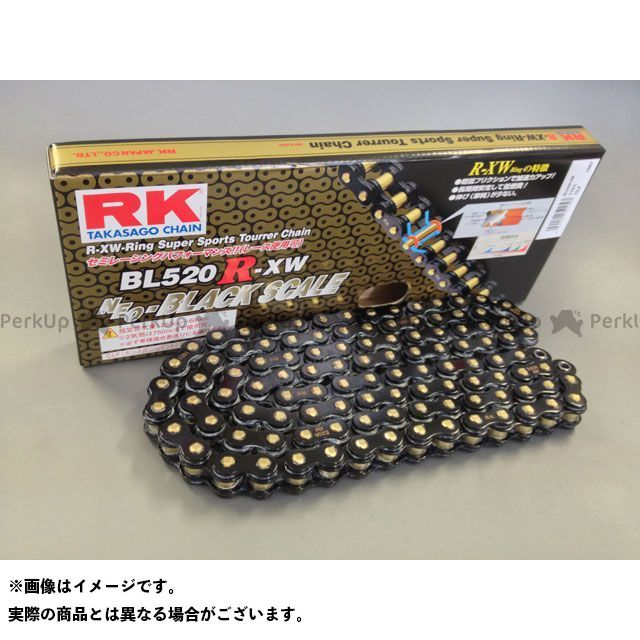 送料無料 RKエキセル 汎用 チェーン関連パーツ ストリート用チェーン BL520R-XW(ブラック) 116L