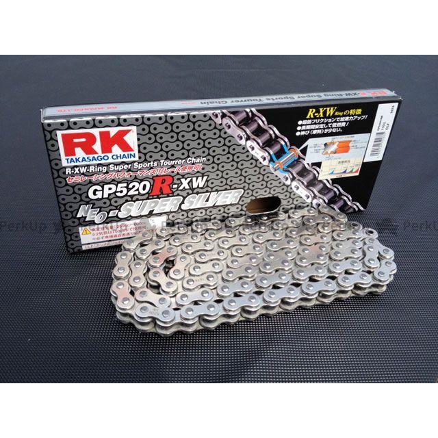送料無料 RKエキセル 汎用 チェーン関連パーツ ストリート用チェーン GP520R-XW(シルバー) 112L