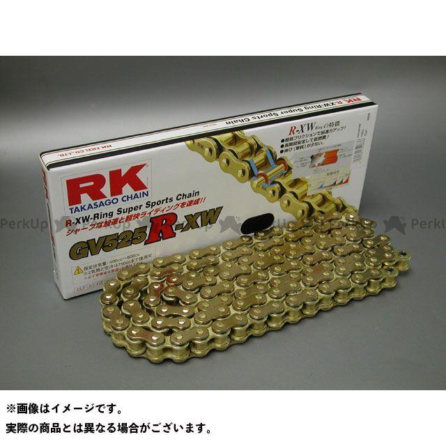 送料無料 RKエキセル 汎用 チェーン関連パーツ ストリート用チェーン GV525R-XW(ゴールド) 102L