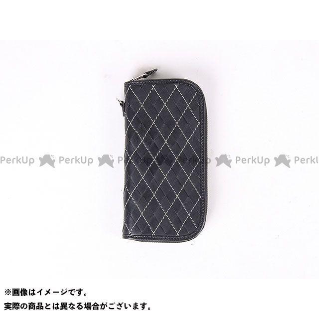 メーカー在庫あり DEGNER デグナー W-99 アーガイル調本革ロングZIPウォレット(ブラック/ブラック)