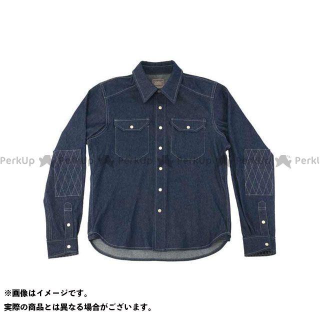KADOYA K'S PRODUCT No.6572 RIDE WORK SHIRT2(ネイビー) サイズ:LL カドヤ