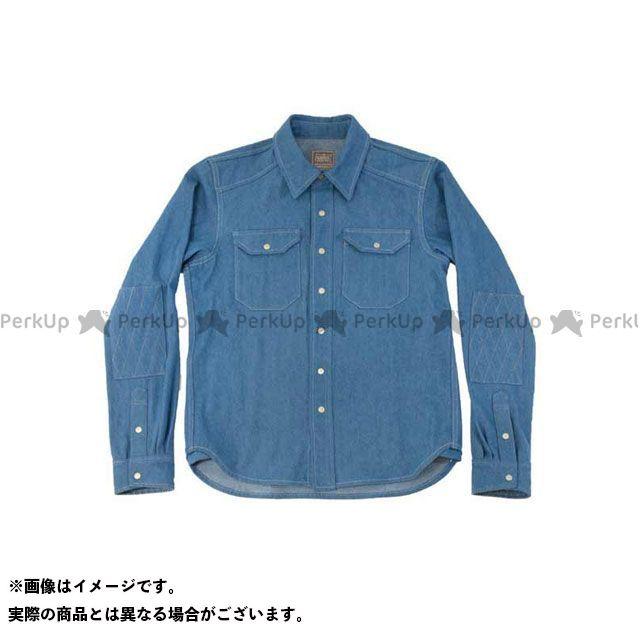 KADOYA K'S PRODUCT No.6572 RIDE WORK SHIRT2(ブルー) LL カドヤ