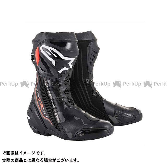 送料無料 Alpinestars アルパインスターズ レーシングブーツ スーパーテックR ブーツ(ブラック/ダークグレー/レッドフロー) 40