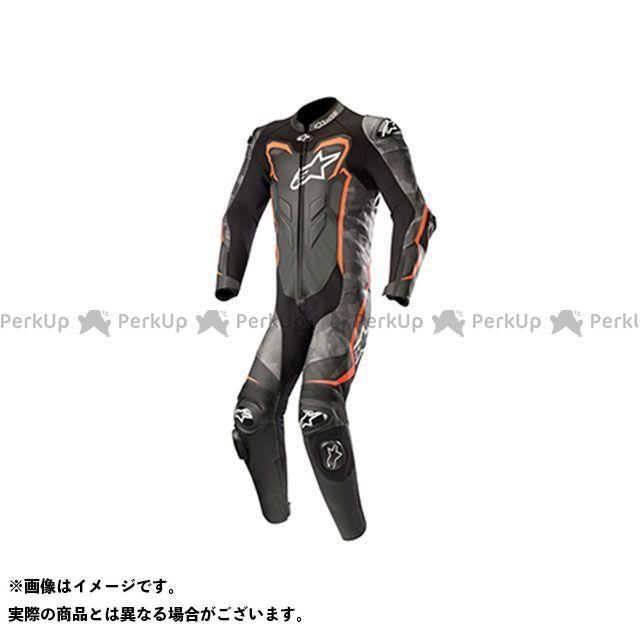 【エントリーで最大P21倍】Alpinestars GP プラス 2 カモ レザー スーツ(ブラックカモ/レッドフロー) サイズ:52 アルパインスターズ