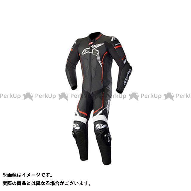 Alpinestars GP プラス 2 レザー スーツ(ブラック/ホワイト/レッドフロー) サイズ:52 アルパインスターズ