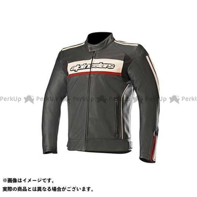 アルパインスターズ Alpinestars ジャケット バイクウェア 訳あり品送料無料 エントリーで最大P19倍 レザー 低価格化 ストーンレッド ブラック ダイノ サイズ:48