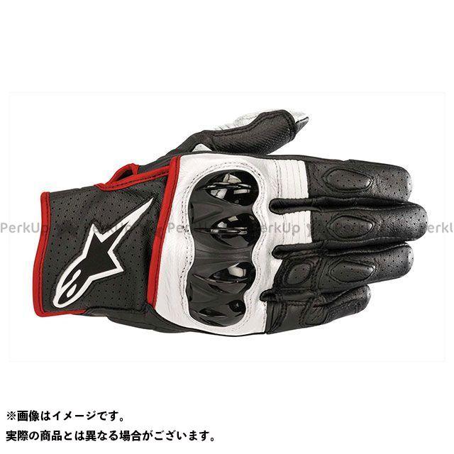 【エントリーで更にP5倍】Alpinestars セラー グローブ(ブラック/ホワイト/レッドフロー) サイズ:M アルパインスターズ