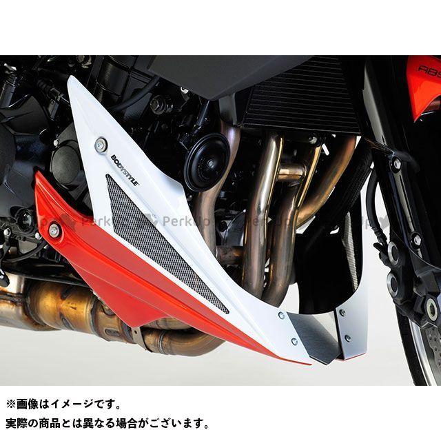 送料無料 BODY STYLE Z1000 カウル・エアロ ベリーパン KAWASAKI Z1000 2010 ホワイト/オレンジ