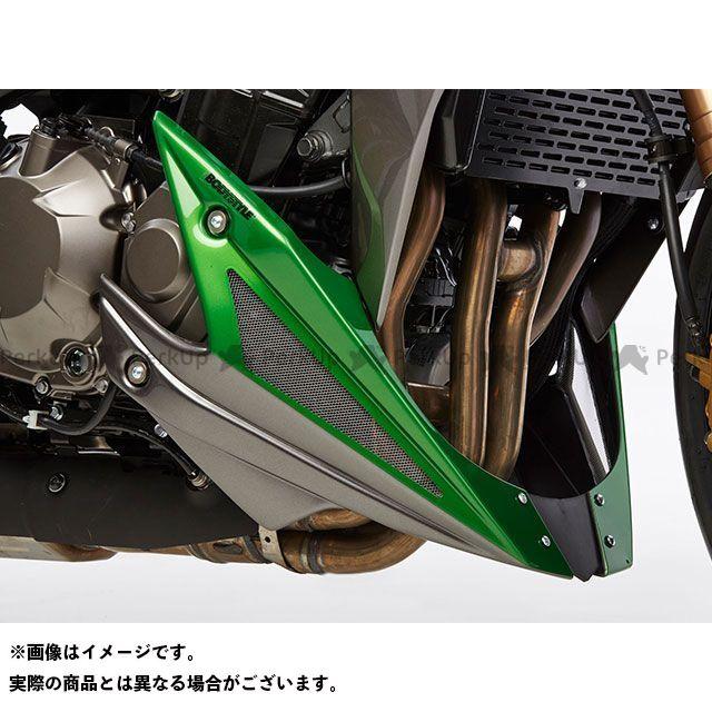 送料無料 BODY STYLE Z1000 カウル・エアロ ベリーパン KAWASAKI Z1000 2014 グレー/グリーン