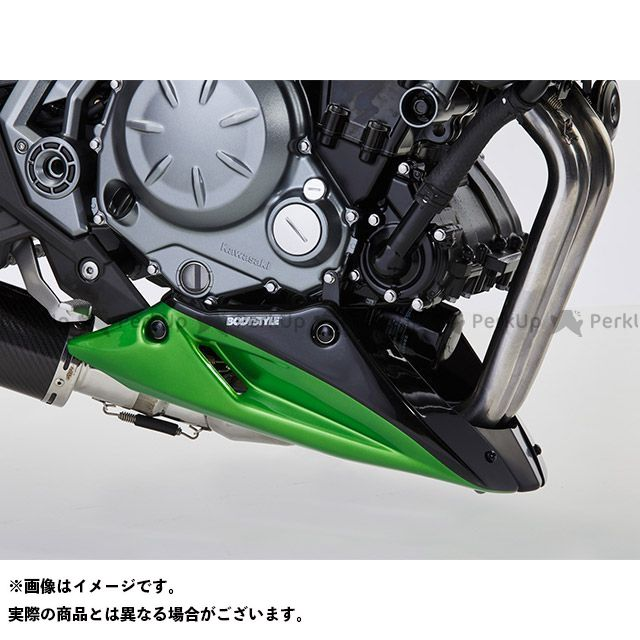 BODY STYLE Z650 ベリーパン KAWASAKI Z650 2017-2018 グリーン/ブラック