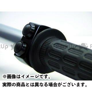 モトガジェット 汎用 電装スイッチ・ケーブル m-スイッチ 22.2mm ハウジング ブラック/プッシュボタン ブラック 2ボタン