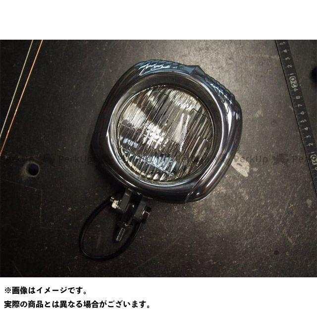 ユニバーサルカスタムチョッパーズ 汎用 ヘッドライト・バルブ エレクトロラインタイプ ヘッドライト ポリッシュ