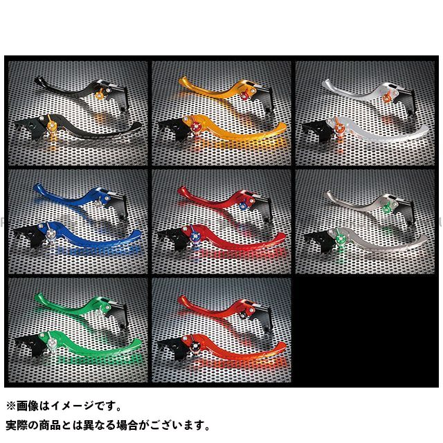 ユーカナヤ Z900 ツーリングタイプ アルミ削り出しビレットレバー(レバーカラー:オレンジ) カラー:調整アジャスター:グリーン U-KANAYA