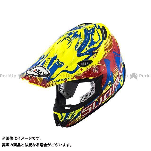 SUOMY スオーミー オフロードヘルメット SMJ0036 MR.JUMP GRAFFITI(レッド/イエロー) M/57-58cm