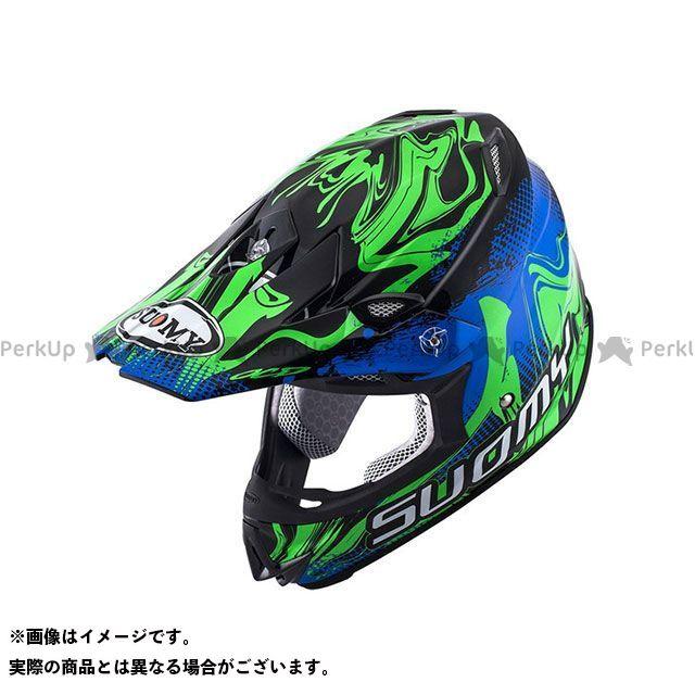SUOMY スオーミー オフロードヘルメット SMJ0037 MR.JUMP GRAFFITI(ブルー/グリーン) M/57-58cm