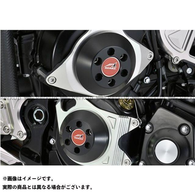 【無料雑誌付き】アグラス Z900RS レーシングスライダー 2点セット ケースカバーA ジュラコンカラー:ブラック AGRAS