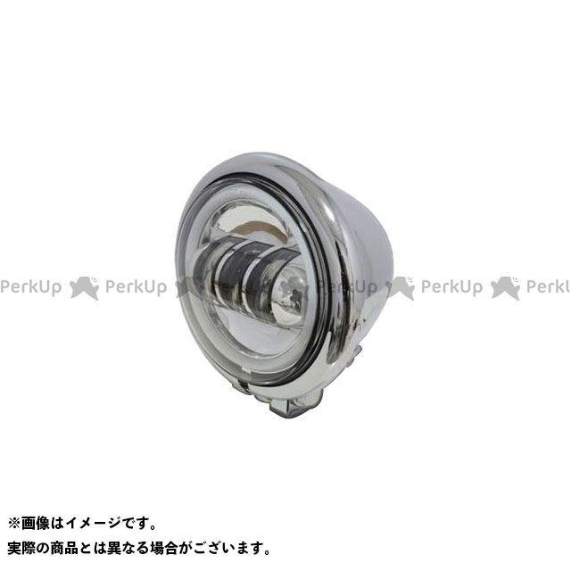 ガレージT&F 汎用 4.5インチベーツライト(メッキ) プロジェクターLED仕様(リング付き) ガレージティーアンドエフ