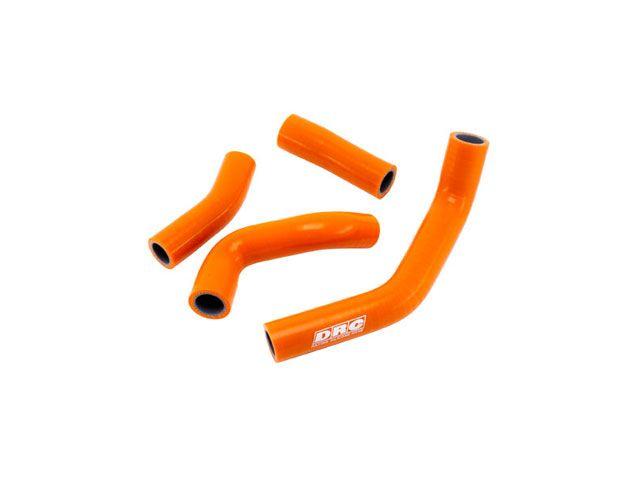 送料無料 DRC 125デューク 200デューク 冷却系ホース類 ストリート ラジエターホースセット(オレンジ)