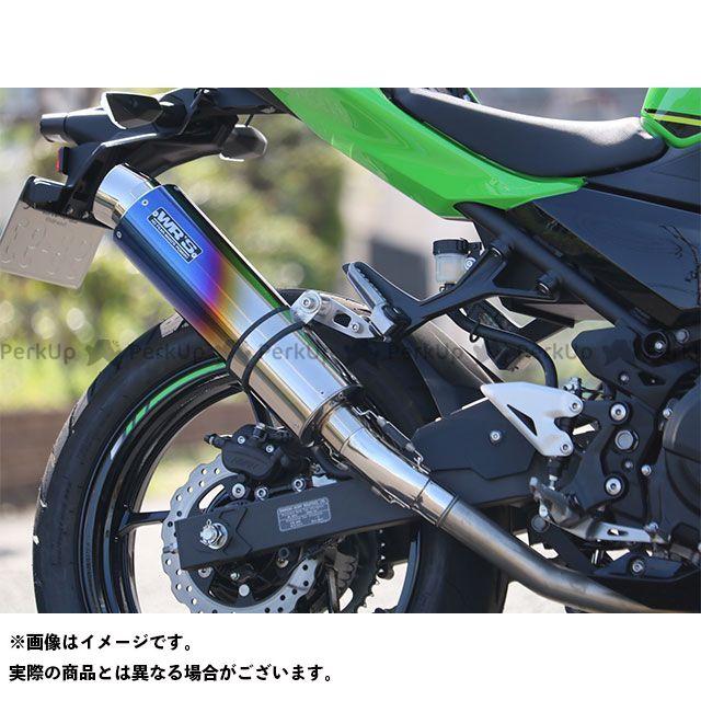 WR'S ニンジャ400 JMCA リヤエキゾースト 仕様:ステンレス/チタン(焼き色) WR'S