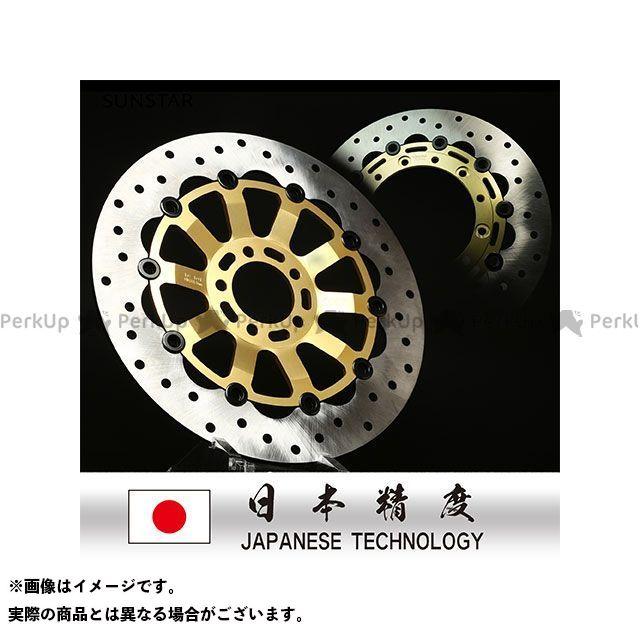 サンスター GSX-R1100 GSX-R750 ディスク カスタムタイプ ディスクローター(ゴールド)
