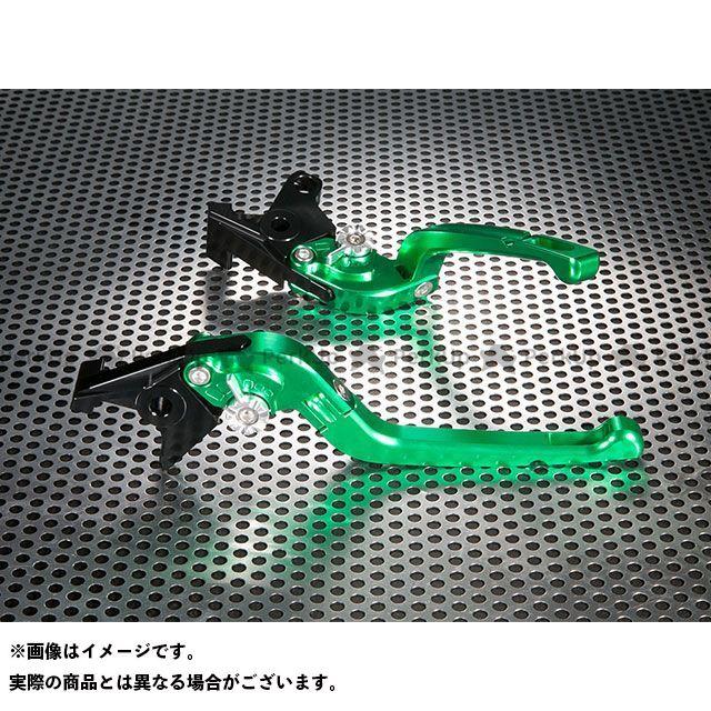ユーカナヤ ZRX400 ZRX400- Rタイプ 可倒式 アルミ削り出しビレットレバー(レバーカラー:グリーン) カラー:調整アジャスター:シルバー U-KANAYA