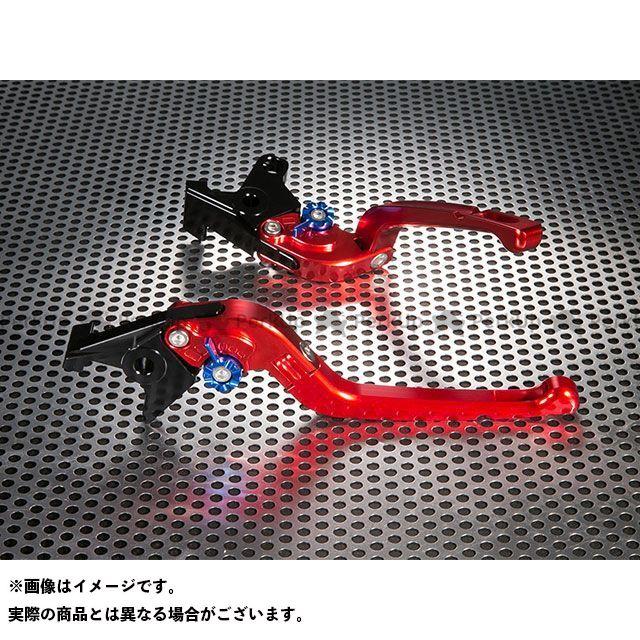 ユーカナヤ GSX-R750 Rタイプ 可倒式 アルミ削り出しビレットレバー(レバーカラー:レッド) カラー:調整アジャスター:シルバー U-KANAYA