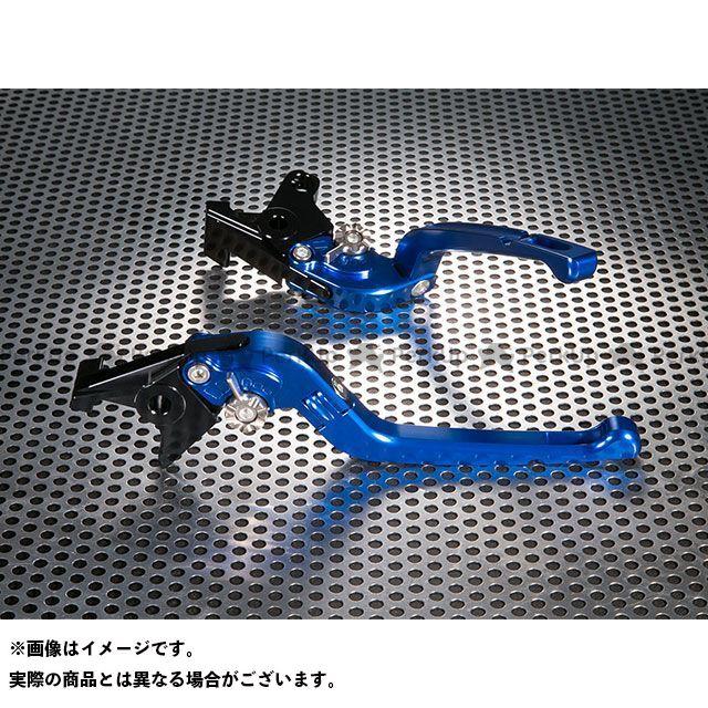 ユーカナヤ FZ400 Rタイプ 可倒式 アルミ削り出しビレットレバー(レバーカラー:ブルー) カラー:調整アジャスター:ブラック U-KANAYA