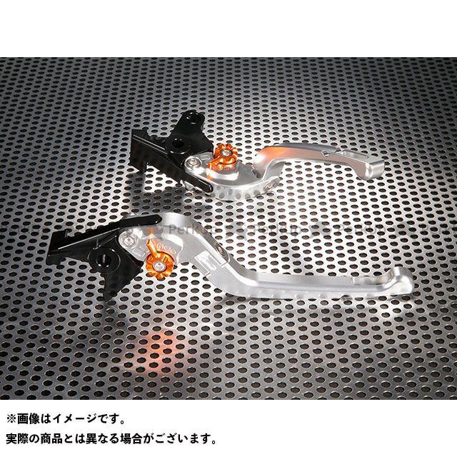 ユーカナヤ XJR1200 XJR1300 Rタイプ 可倒式 アルミ削り出しビレットレバー(レバーカラー:シルバー) カラー:調整アジャスター:オレンジ U-KANAYA