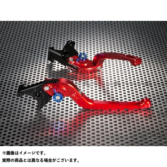ユーカナヤ YZF-R1 Rタイプ 可倒式 アルミ削り出しビレットレバー(レバーカラー:レッド) カラー:調整アジャスター:レッド U-KANAYA