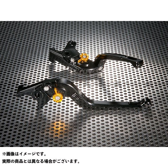 ユーカナヤ YZF-R1 Rタイプ 可倒式 アルミ削り出しビレットレバー(レバーカラー:ブラック) カラー:調整アジャスター:グリーン U-KANAYA