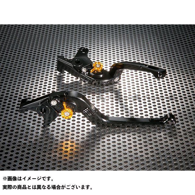 ユーカナヤ FZ8 Rタイプ 可倒式 アルミ削り出しビレットレバー(レバーカラー:ブラック) カラー:調整アジャスター:ゴールド U-KANAYA