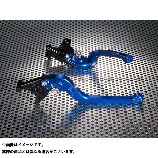 ユーカナヤ トレーサー900・MT-09トレーサー Rタイプ 可倒式 アルミ削り出しビレットレバー(レバーカラー:ブルー) カラー:調整アジャスター:オレンジ U-KANAYA