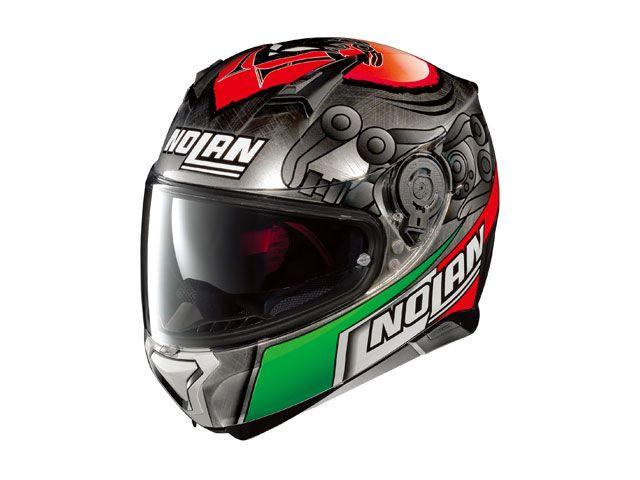 送料無料 NOLAN ノーラン フルフェイスヘルメット N87 ジェミニレプリカ メランドリ スクラッチドクローム/63 M