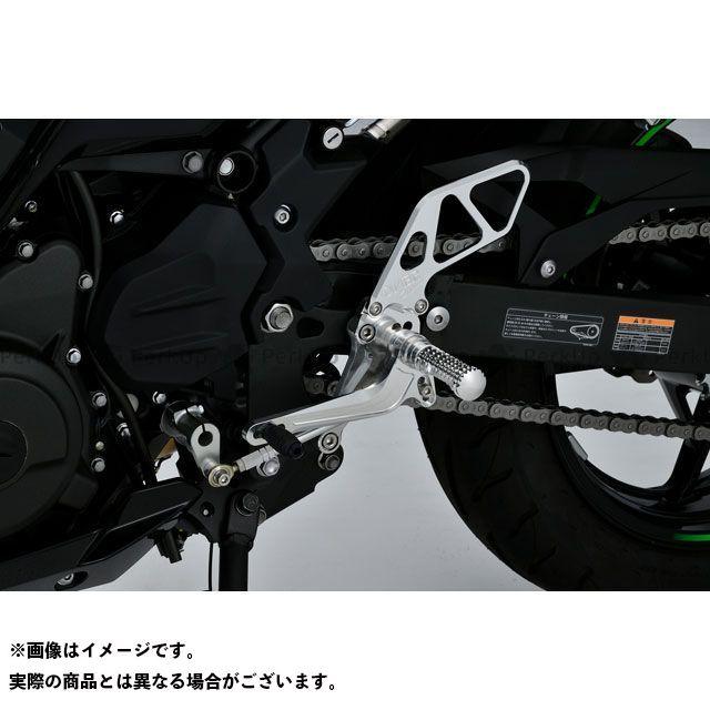 オーバーレーシング ニンジャ400 バックステップ 4ポジション(シルバー) OVER RACING