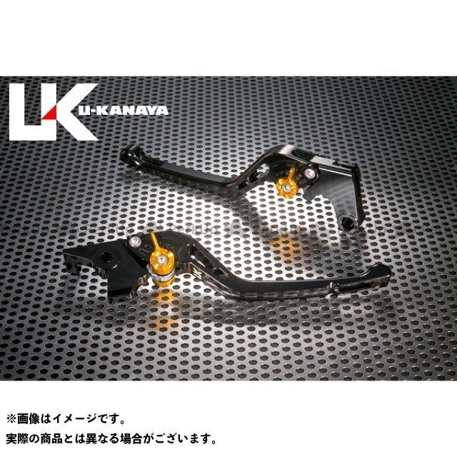 ユーカナヤ CB1000R GPタイプ アルミ削り出しビレットレバー(レバーカラー:ブラック) カラー:調整アジャスター:ゴールド U-KANAYA