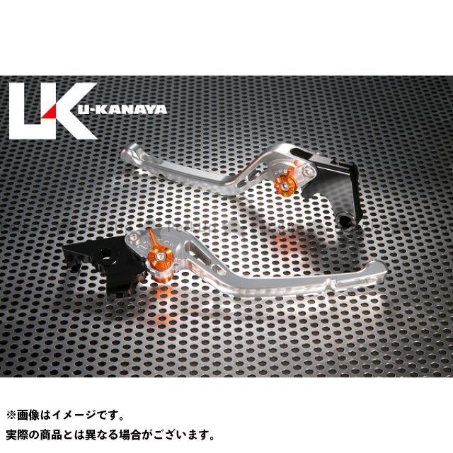 ユーカナヤ CB1000R GPタイプ アルミ削り出しビレットレバー(レバーカラー:シルバー) カラー:調整アジャスター:オレンジ U-KANAYA