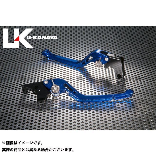 ユーカナヤ CB1000R GPタイプ アルミ削り出しビレットレバー(レバーカラー:ブルー) カラー:調整アジャスター:ブラック U-KANAYA