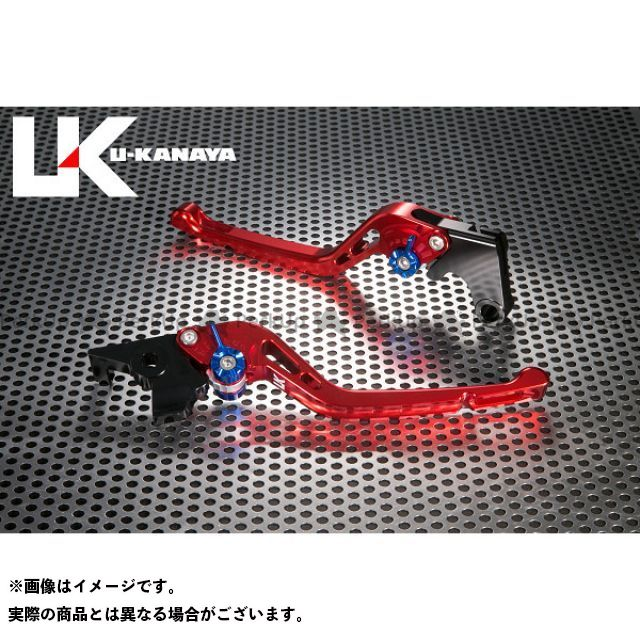 ユーカナヤ CB1000R GPタイプ アルミ削り出しビレットレバー(レバーカラー:レッド) カラー:調整アジャスター:ゴールド U-KANAYA