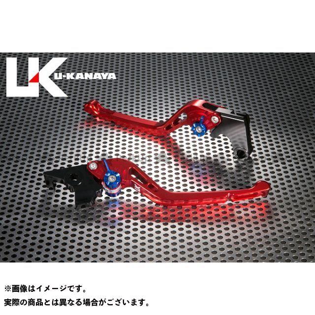 ユーカナヤ CB1000R GPタイプ アルミ削り出しビレットレバー(レバーカラー:レッド) カラー:調整アジャスター:ブルー U-KANAYA