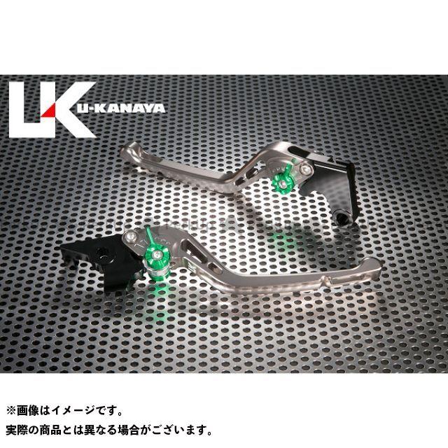 ユーカナヤ CB1000R GPタイプ アルミ削り出しビレットレバー(レバーカラー:チタン) カラー:調整アジャスター:ブラック U-KANAYA