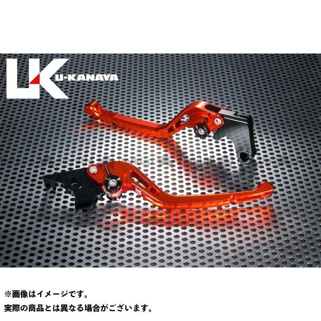 ユーカナヤ CB1000R GPタイプ アルミ削り出しビレットレバー(レバーカラー:オレンジ) カラー:調整アジャスター:ブルー U-KANAYA