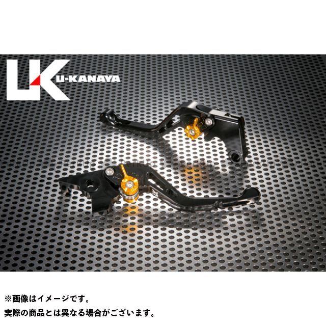 ユーカナヤ CB1000R GPタイプ アルミ削り出しビレットショートレバー(レバーカラー:ブラック) カラー:調整アジャスター:オレンジ U-KANAYA
