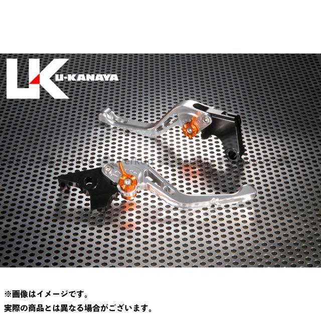 ユーカナヤ CB1000R GPタイプ アルミ削り出しビレットショートレバー(レバーカラー:シルバー) カラー:調整アジャスター:ゴールド U-KANAYA