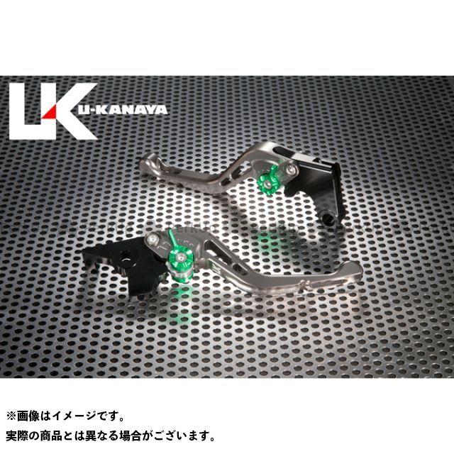 ユーカナヤ CB1000R GPタイプ アルミ削り出しビレットショートレバー(レバーカラー:チタン) カラー:調整アジャスター:ゴールド U-KANAYA